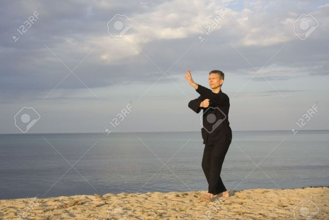 1906042-tai-chi-posture-fist-under-elbow-art-of-self-defense-stock-photo