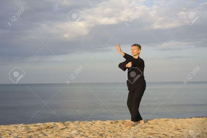 1906042-tai-chi-posture-fist-under-elbow-art-of-self-defense-stock-photo